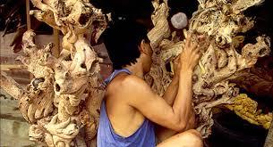 wood carvings lembongan island caspla bali seaview