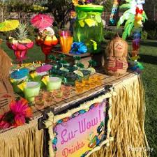 luau table centerpieces raffia luau chair decorating idea luau raffia decorating ideas