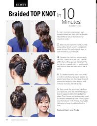 how to add height to hair braided top knot in 10 minutes composure magazine