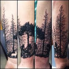 collection of 25 back forest tree tattoos