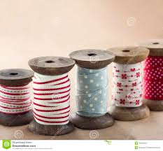 spools of ribbon wooden ribbon spools stock image image of roll 35876353