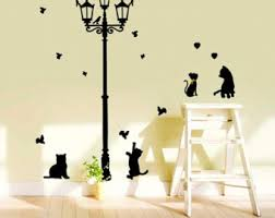 Stickers For Walls In Bedrooms by Cat Wall Decals Etsy