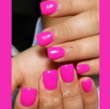 pink sns nails by lupe yelp
