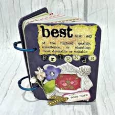 best friend photo album best friend a z friendship 3 1 4x 4 1 4 mini album by papersilly