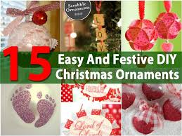 15 festive easy diy ornaments find projects