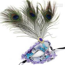 peacock mardi gras mask luxury fashion party masks with peacock feather pu