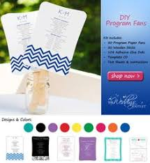 Diy Wedding Program Fans Kits Diy Circle Fan Program Kit Wedding Fans Diy Wedding Ideas