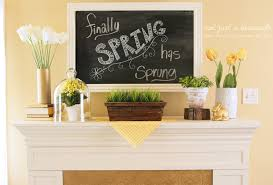 Spring Decoration by Spring Fireplace Mantel Ideas Amys Office