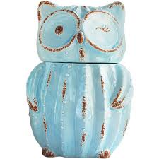 Owl Canisters For The Kitchen The Pioneer Woman Flea Market Dots Treat Jar Walmart Com