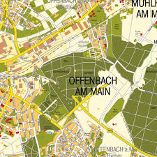 Frankfurt Airport Map Map Offenbach Am Main Hessen Germany Maps And Directions At
