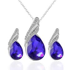 blue sapphire necklace sets images Jewelry sets cheap earring and necklace sets online jpg