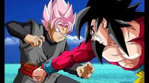 super saiyan rose goku black vs super saiyan 4 goku dragon ball