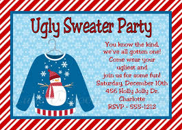 sweater invitations for or adults printable or printed
