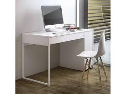 bureau laqué blanc design temahome prado bureau laque blanc pieds blanc design 4ème