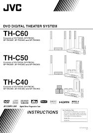 jvc home theater system jvc home theater system xv thc40 user guide manualsonline com