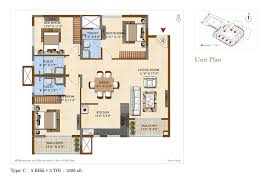 salarpuria sattva divinity 1 2 and 3 bhk floor plans at mysore