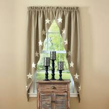 country swag curtains taupe u0026 stars lined romantic swags