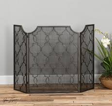 Fireplace Metal Screen by Fireplace Screen With Antiqued Silver Champagne Finish Screen