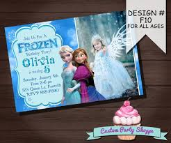 birthday invitation card personalized frozen birthday invitations