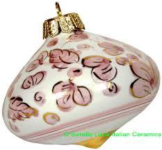 italian ceramic majolica ceramic christmas ornament