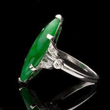 jade engagement ring vintage jade diamond platinum ring circa 1930s 66mint