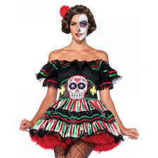 day of the dead costumes day of the dead doll womens costume muerto