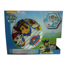 paw patrol 3 piece ceramic dinner breakfast childrens