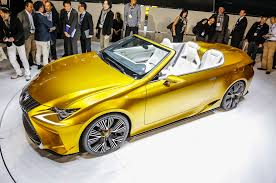 lexus convertible 2015 lexus lf c2 concept hits l a likely previews rc convertible