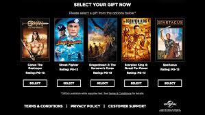 universal bonus movie offers uvcode com