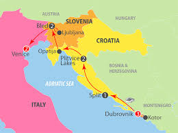 Adriatic Sea Map K808g Dubrovnik To Venice 11 Day Escorted Tour