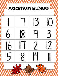 thanksgiving addition bingo by apple of their eye tpt