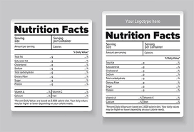 label templates for word free blank nutrition label template free download