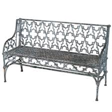cast iron gothic bench for sale at 1stdibs