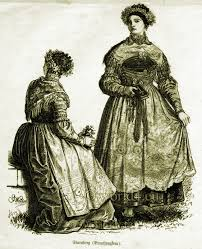 bridesmaids clothing in 1860 traditional bavarian costumes