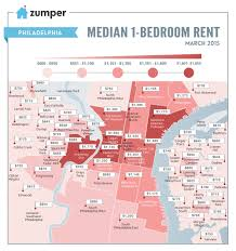 Philadelphia Pa Zip Code Map by See How Much Philly Spent On Rent This March The Zumper Blog