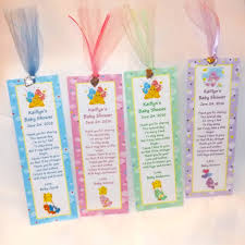 care baby shower care bears baby shower bookmark favors