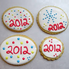 New Year S Decorated Cookies by Sugar Dot Cookies New Year U0027s Eve Sugar Cookies