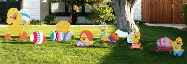 outdoor easter decorations easter st s day yard displays decorations