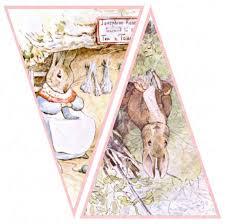 rabbit banner digital rabbit banner with pink background 5 x 7 5 inches