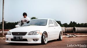 lexus is200 deep dish wheels work meister lady on wheels indonesian stance u0026 hellaflush