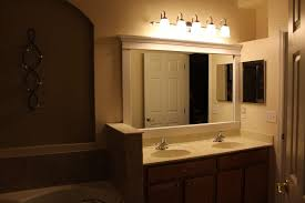 Bathroom Mirrors With Lights Attached Bathroom Cozy White Framed Bathroom Mirror With Wall Light