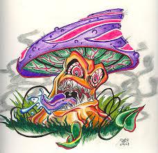 40 evil mushroom tattoos