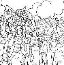 transformers and humans coloring page free printable coloring pages