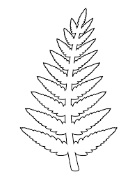 fern pattern use the printable outline for crafts creating