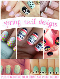 spring nail designs plus 10 gorgeous solid color options spring