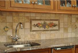 Brick Kitchen Backsplash by Travertine Tile Kitchen Backsplash From How To Install How To Cut