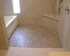 Roll In Handicapped Shower With Barrier Free Shower Base - Bathroom designs for handicapped