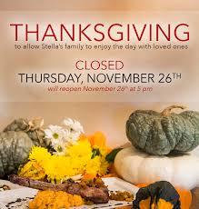 thanksgiving day stella modern italian cuisine