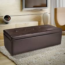 living room bench living room brown leather storage ottoman living rooms storage