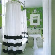 Navy And Green Curtains Clean And Preppy Green Walls With White Navy Stripe Shower